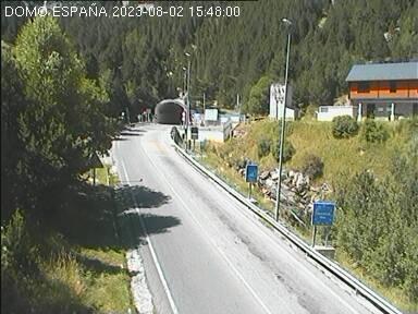 Túnel de Bielsa. Salida España